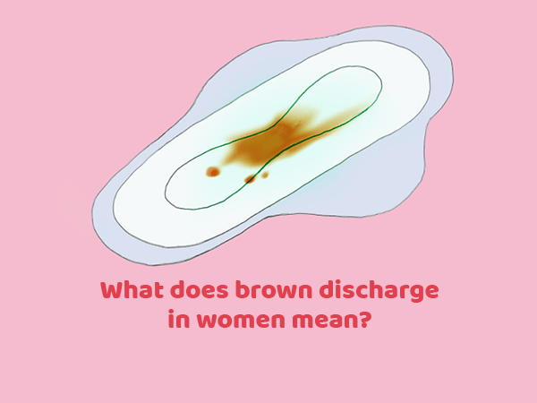 brownish vaginal discharge before period